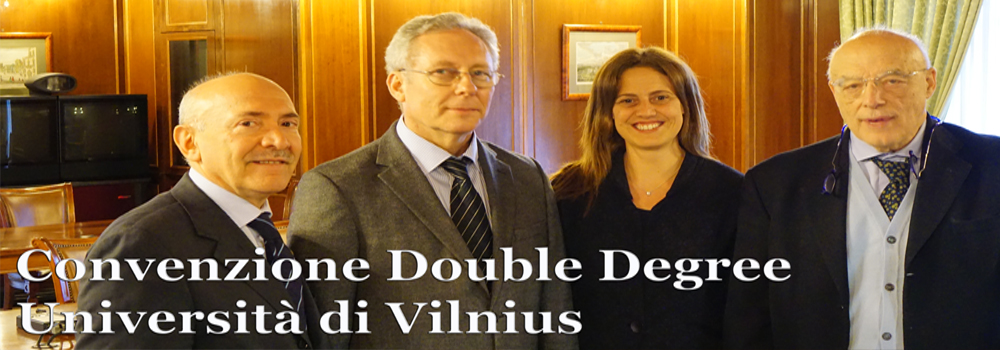 Accordo Double Degree Università di Vilnius